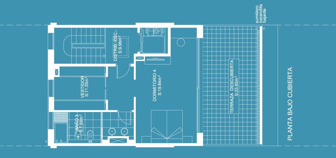 Bajo cubierta · Superficie construida: 61,85m2
